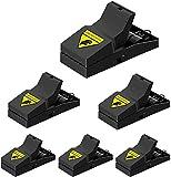 FEBCAT Paquete de 6 trampas para Ratones, Trampa para Ratas, Control de atrapasueños para Ratones, Ratones de Rata en Interiores y Exteriores (Paquete Negro-6)
