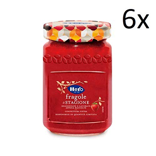 6x Hero Saisonale Erdbeeren Marmelade Konfitüre Brotaufstriche Italien 350g