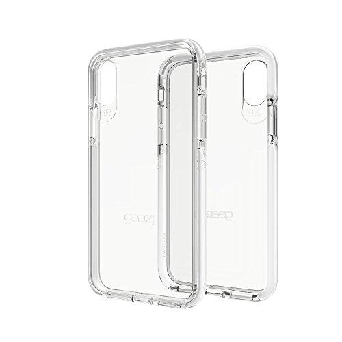 Gear4 Custodia Trasparente Piccadilly con Protezione avanzata Contro Gli Urti [Protezione fornita dal D3O], Design Sottile e Robusto per iPhone X/XS - Bianca