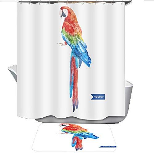 Bird Lesionada Cortina Impresa De Partición A Prueba De Agua De Ducha, Cortina De Ducha Estilo IKEA (Color : A, tamaño : 120cm*180cm)