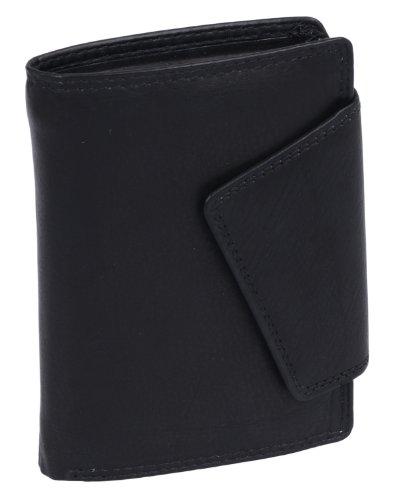 LEAS Damenbörse im Hochformat Echt-Leder, schwarz Ladies-Collection''