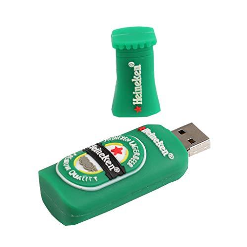 P Prettyia - Chiavetta USB Creative U Disk Memory Stick, per birra, 256 m, colore: Verde