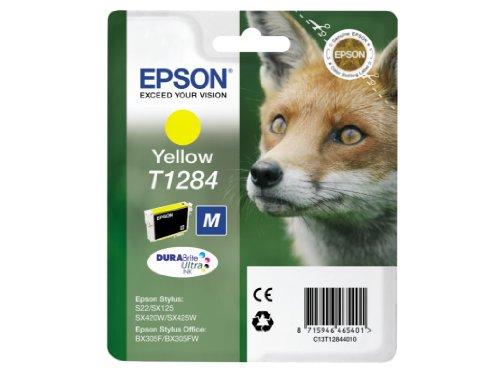 Epson T128 Serie Volpe, Cartuccia Originale Getto d'Inchiostro DURABrite Ultra, Imballaggio Standard, Giallo, con Amazon Dash Replenishment Ready