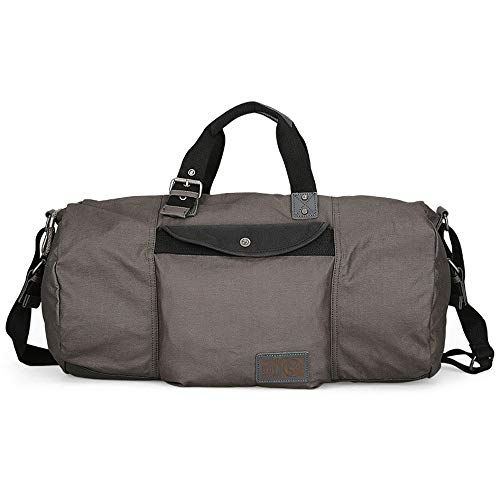 Travel Duffel Bag for Men Mens Weekend Travel Bag Canvas Luggage Gym Sport Shoulder Handbag Crossbody Bag Carry On Bag (Color : Gray, Size : 53x31x31cm)