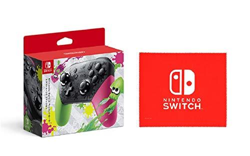 【任天堂純正品】Nintendo Switch Proコントローラー スプラトゥーン2エディション (【Amazon.co.jp限定】Nintendo Switch ロゴデザイン マイクロファイバークロス 同梱)