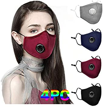 4-Pack Sinohomie Reusable Adults Face Mask