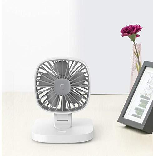 Florally, mini ventilatore da tavolo USB, design a doppia lama, per viaggi, escursionismo, pesca, campeggio, scrivania o auto