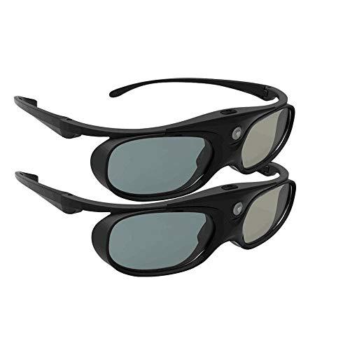 D-L-INK 3D Glasses, 144Hz Rechargeable Active Shutter Eyewear for Most D-L-INK 3D Projectors(2 Pack)