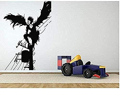 Pegatinas de pared y murales adhesivos de pared para decoración del hogar, vinilo autoadhesivo para pared, sala de estar, ángel oscuro, anime, papel pintado de dibujos animados 56 x 79 Com