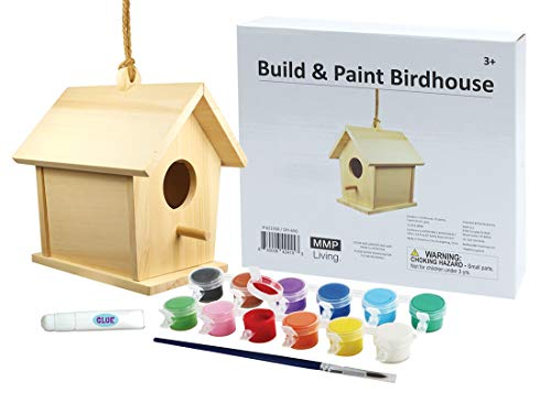MMP Living Build and Paint Birdhouse with 12 Paints - PYO DIY