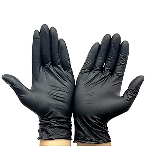 BASOYO Guantes desechables de nitrilo | 100 unidades | sin látex y sin polvo | hipoalergénicos, protectores, gruesos y resistentes al desgaste | uso versátil en el hogar, hospital y lugar de trabajo