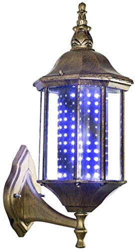 Lumière LED Poteau Coiffeur, Cour rétro européenne, lumières rotatives Salon Coiffure, Logo, lanternes Palais, Alliage d'aluminium, Support Mural Salon Coiffure