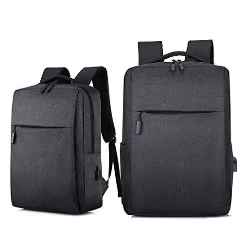 QIAOLI Laptop Bag Zaino Portatile Portatile Durevole Zaino con Porta di Ricarica USB Scuola Computer Borsa Regalo per Uomini e Donne Borsa A Tracolla (Colore: Nero, Dimensioni: 17.3')
