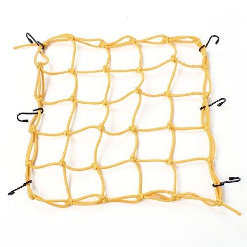 sourcingmap® Nylon Giallo Gomma 6 Gancio Carico Di Bagagli Pacchetto rete flessibile per moto