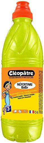 Cléopâtre - PGBB1-6 - Peinture Gouache Néfertari Baby - Jaune citron - Flacon 1 L