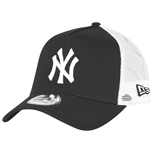 New Era York Yankees Frame Adjustable Trucker Cap Clean Black/White - One-Size
