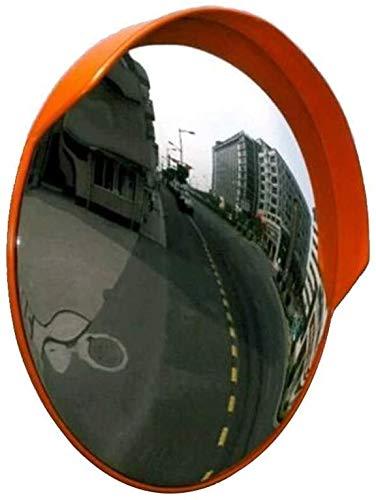 HQY buitenverkeer groothoeklens, verkeersspiegel groothoek-panoramische veiligheidsspiegel convex 130 °, met hardware accessoires, verstelbare diafragma spiegel 80 cm, 100 cm