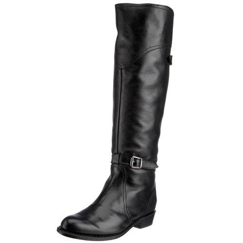 FRYE Women's Dorado Riding Boot, Black Full Grain, 6.5 M US