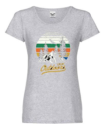 Camiseta de Manga Corta, diseño de Bicicleta de montaña con Texto en...