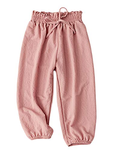 BINBOY Baby Boys and Girls Harem Pants Soft Pants Trousers for Kids 3-7years(4T, Pink)