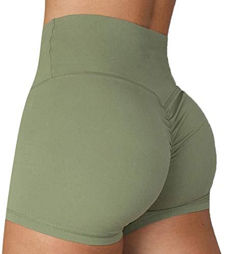 KIWI RATA Mallas Push Up Cortas Fitness Pantalones Cortos Mujer Deportivos Cintura Alta Yoga Leggings Pantalón de Verano Leggins Shorts Casuales Elásticos Cómodo y Transpirable