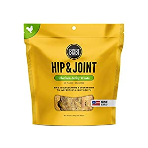 Bixbi Hip & Joint Dog Jerky Treats, Chicken, 12 Ounce