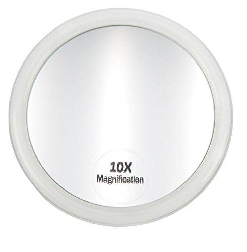 Bad-Schrank Spiegel Kosmetex Zusatzspiegel mit 3 Saugnäpfen und 10-fach Vergrößerung. Ø 10 cm