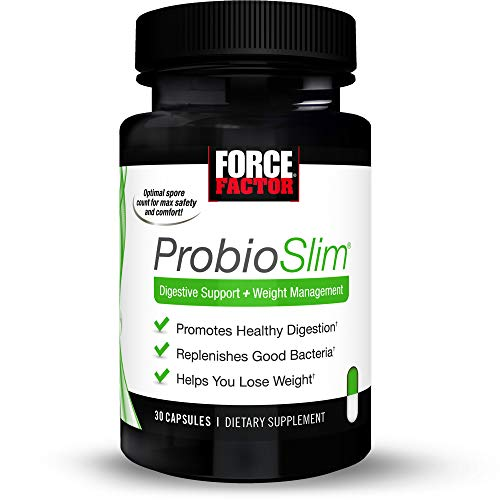 Force Factor Probioslim Probiotics + Weight Loss Supplement, Burn Fat, Lose Weight, Reduce Gas, Bloating, Constipation, Digestive Health, 30Count 1