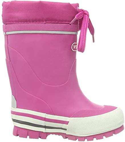 Viking Unisex-Kinder Jolly Winter Gummistiefel, Pink (Fuchsia 17), 28 EU