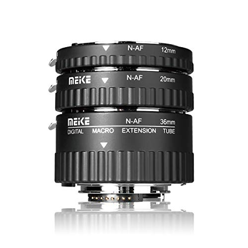 MEIKE N-AF1-A Macro Electronic Mount Auto Foucs Macro Metal Extension Tube Adapter for Nikon DSLR Camera D80 D90 D300 D300SD800 D3100 D3200 D5000 D5100 D5200 D7000 D7100 etc