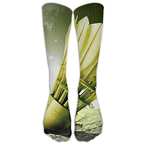 iksrgfvb Langes Kleid Socken Over-the-Calf Tube Kompressionssocken Badminton Malen Training Fußball Athletic Sportsocken Lang: 50CM