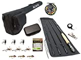 Wild Water Fly Fishing Complete 5 Weight 8 Foot, 4 Piece Fly Fishing Starter Package