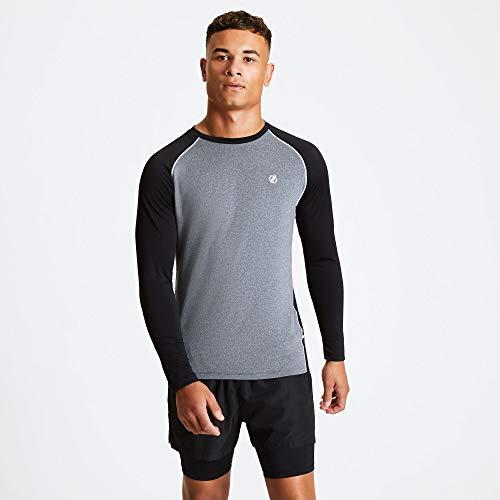 Dare 2b T- Shirt Technique Realize léger et Respirant avec propriété de séchage Rapide et Ventilation Dorsale Polos/Vests Homme, Ebony Grey/Black, FR : L (Taille Fabricant : L)