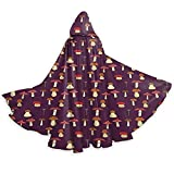 Halloween Cloak Robe Costume Halloween Tunic Hooded Uniform For Adult Children Abstract Design Of Chanterelle Amanita Muscaria Porcini Greasers And Champignon