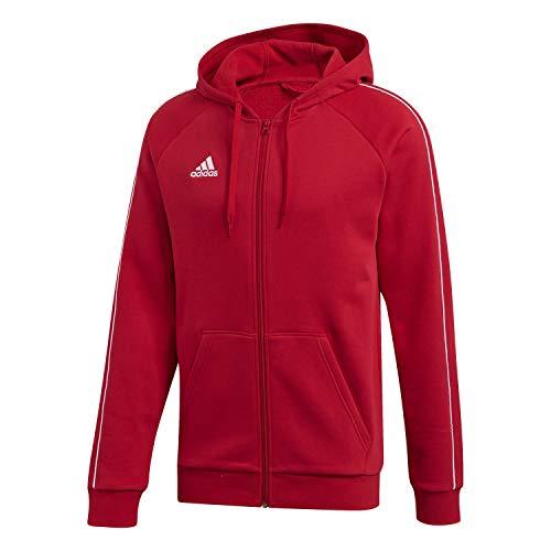 adidas Core 18 Fullzip Hoody, Felpa con Cappuccio Uomo, Rosso (Power Red/White), L