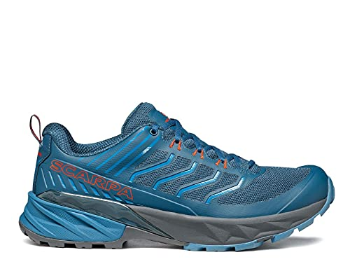 SCARPA Men's Rush Shoes for Hiking and Trail Running - Ocean - 9.5-10