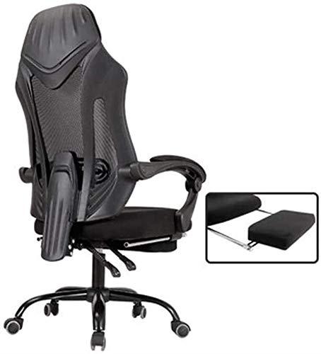 JCCOZ-URG Gamingstuhl, ergonomischer Computer Spielstuhl Sitzhöhe Anpassung Recliner Swivel Rocker E-Sports Bürostuhl mit Kopfstütze und Lendenkissen URG