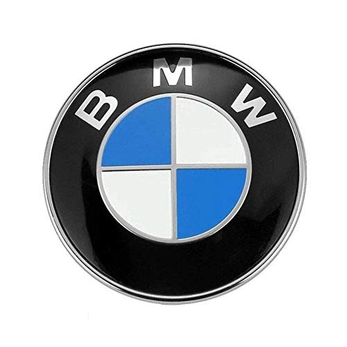 Kofferraum Emblem, Motorhaube oder Heckklappe Emblem 1PC BMW 82mm / 74mm Logo Ersatz für alle Modelle BMW E30 E36 E46 E34 E39 E60 E65 E38 X3 X5 X6 3 4 5 6 7 8 Weiß Blau-74mm