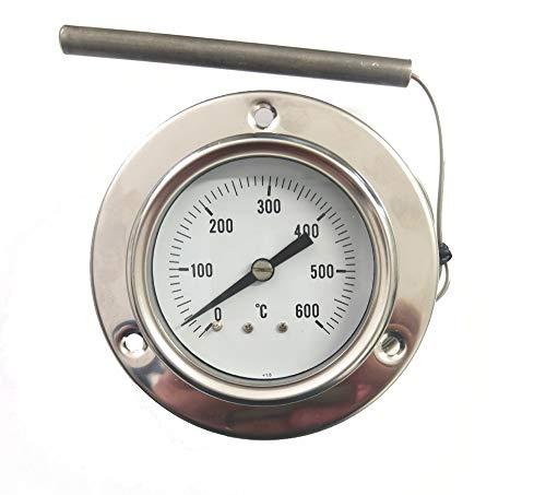 REDPOINT SPARES PIROMETRO/termometro 0-600° per FORNI Pizza, BBQ,FORNI a Legna, etc.