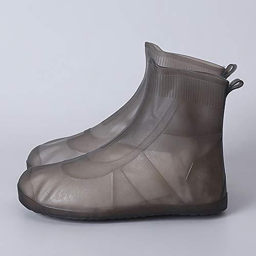 JMung Schuhüberzieher Regen Mehrweg Wasserdicht Waschbar, Regen Überschuhe Fahrrad Outdoor Durchsichtig rutschfest, Regenüberschuhe Fahrrad Wasserdicht,Kaffee,XL