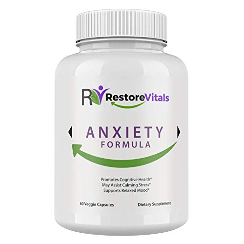 Anti Anxiety Adaptogens Supplements Complex for Adrenal Fatigue Health Support by Restore Vitals with GABA