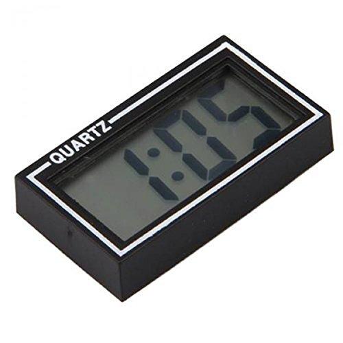 Generic STK0153012567 Mini Digital Lcd Horloge Calendrier Date Heure+Ruban Adhésif Double Face+Stand Support Pour Bureau Voiture