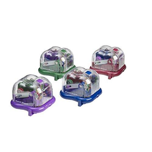 Rexel Wizard 2 - Perforadora eléctrica (2 agujeros, hasta 10 hojas), colores surtidos
