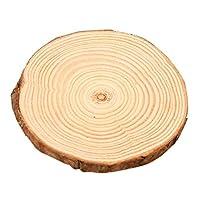 Mei-YY コースター DIYナチュラルラウンドウッドコースターカップマットティーコーヒーマグドリンクホルダーテーブルマット食器インテリアのための飲み物のための木製コースター 収纳 (Color : 1PC, Size : 6 7CM)