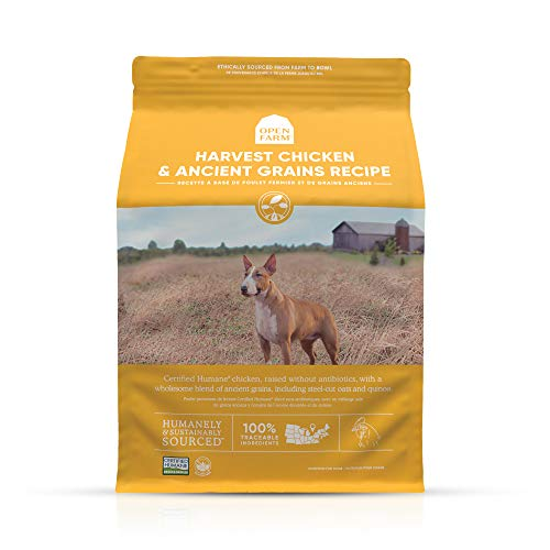 Open Farm Harvest Chicken & Ancient Grains Dry Dog Food, Humanely...