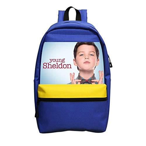 Not applicable Young Shel-don Mädchen Rucksack Jungen Schultertasche Schule Laptop Rucksack Kinder Erwachsene Outdoor, blau, Einheitsgröße