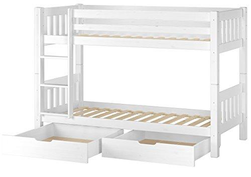 Cama Blanco A Castillo para niños para colchones de 90x 200con Box Porta Objetos 60.06–09WS2