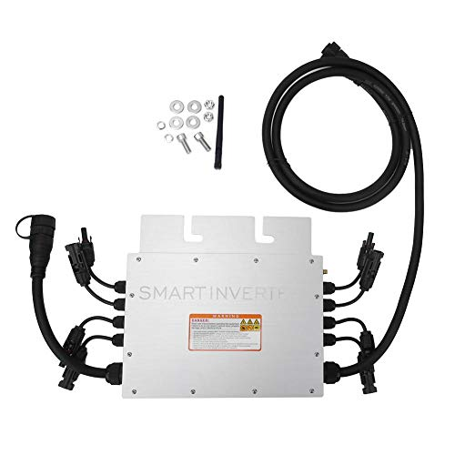 Caredy 1000W MPPT IP65 Wasserdichter Solar Grid Tie Inverter, DC 18-50V bis AC 120V 230V Mikro-Wechselrichter, 2.4G SG1000MQ Grid Tie Solar Wechselrichter Rostfrei und langlebig