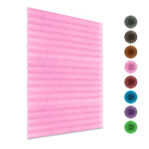 ZSDFW - Tende oscuranti avvolgibili per finestre, in poliestere, 150 cm x 60 cm, colore: Rosa