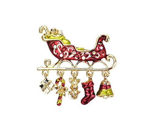 Santas Schlitten Weihnachten Brosche–Weihnachten Jumper–Geschenk für Weihnachten